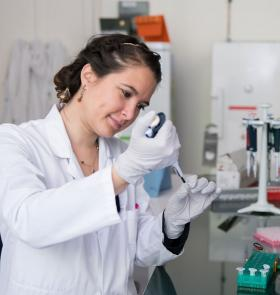 Female researcher